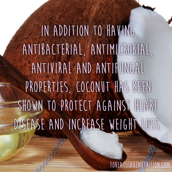 coconut nutrition health facts weight loss heart antiviral antifungal antimicrobial