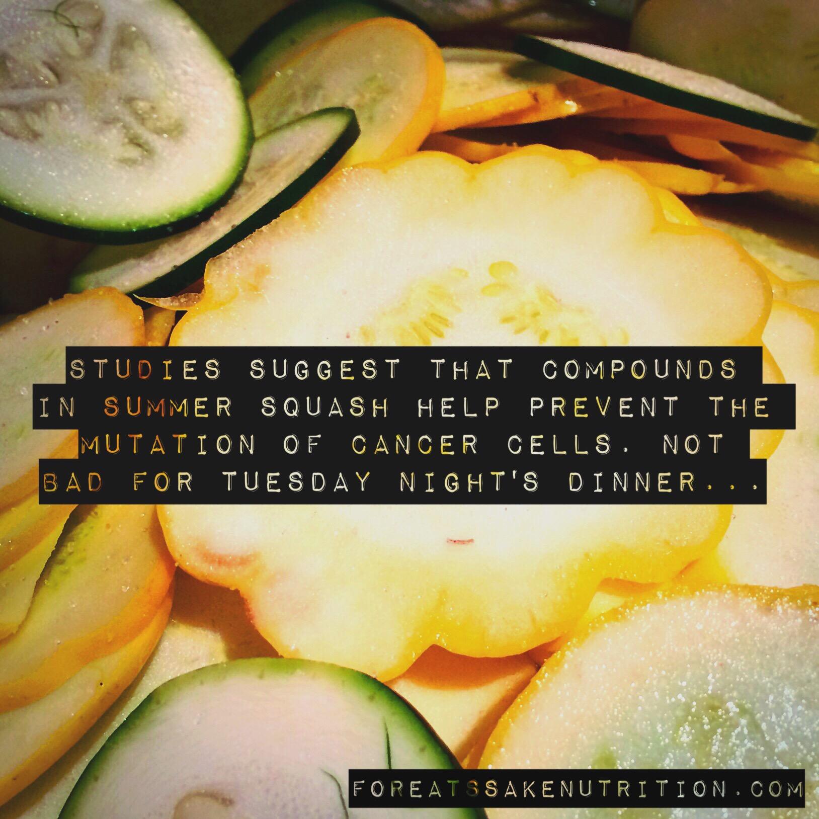 squash zucchini health benefits nutrition cancer