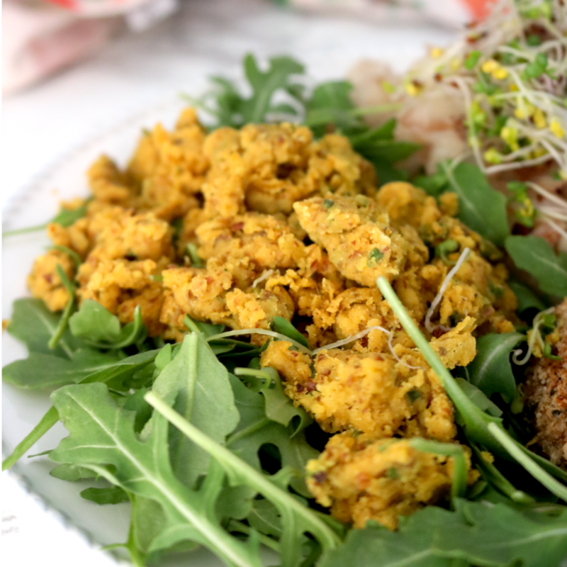 Low-FODMAP Chickpea Scramble