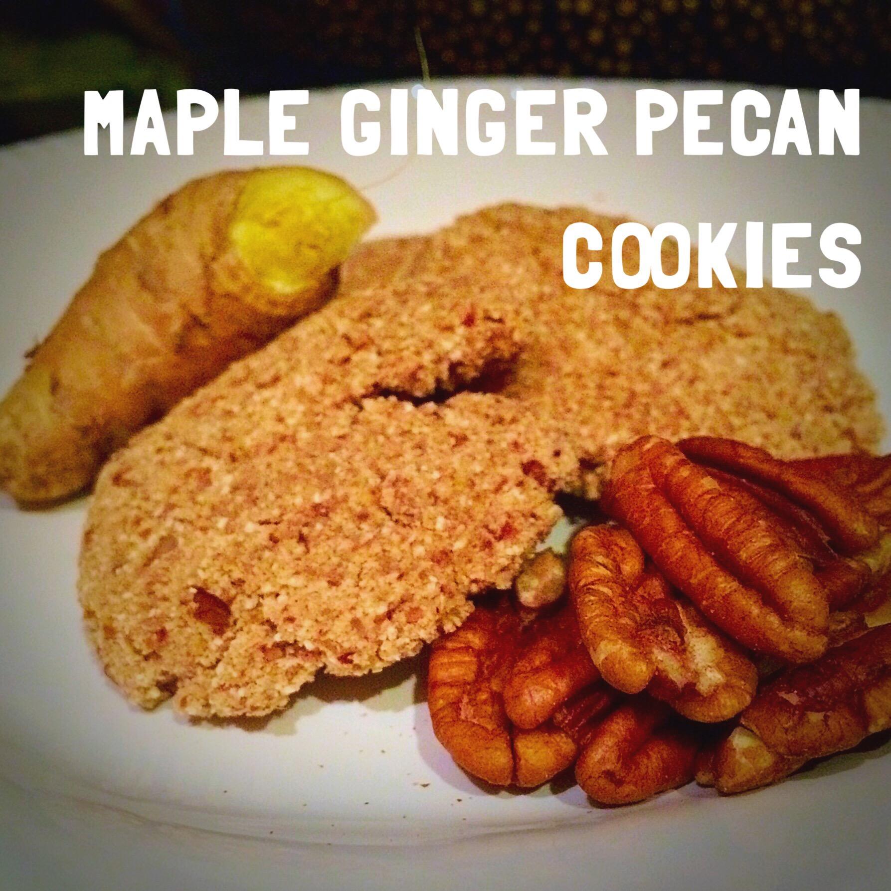 grain free vegan maple ginger pecan cookies