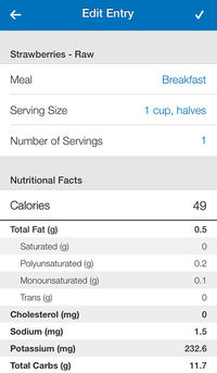 my fitness pal diet app