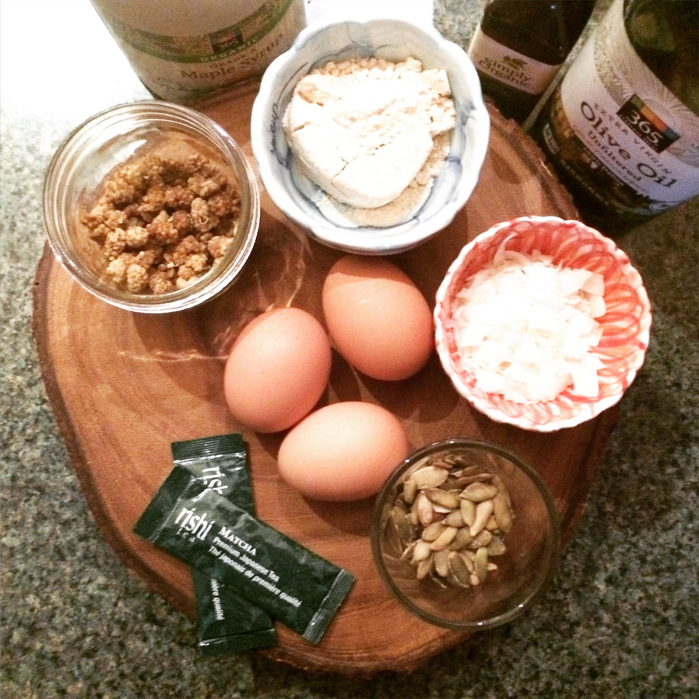 matcha superfood muffin recipe grain free gluten free dairy free