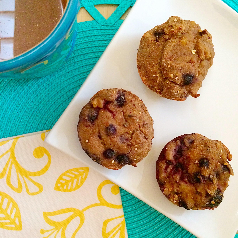 grain free gluten free paleo mixed berry muffin recipe