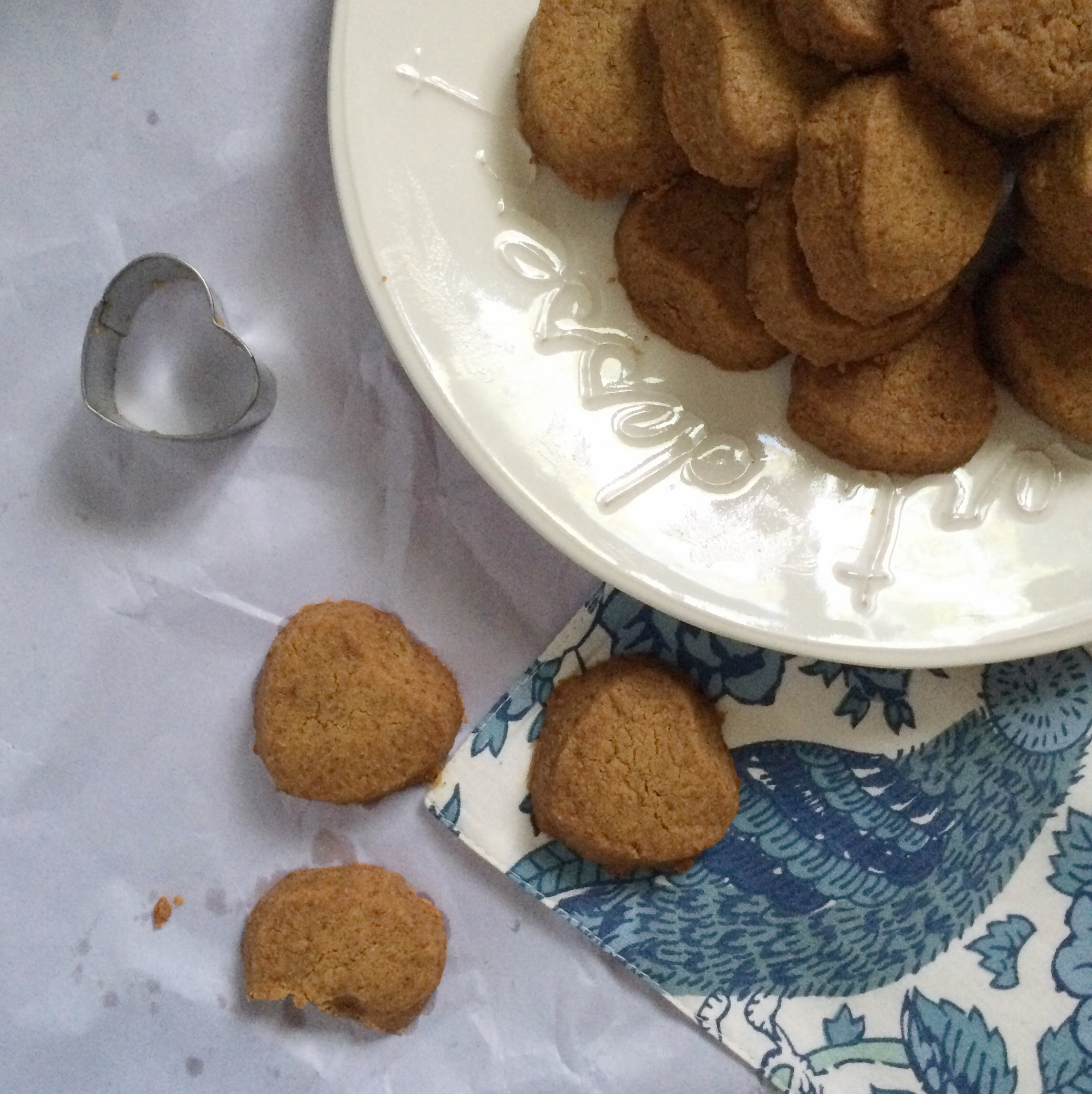 Gluten free, grain free, vegan chickpea flour cardamom cookies - yummy with minimal ingredients!
