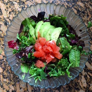 Grapefruit, Kale & Avocado Salad