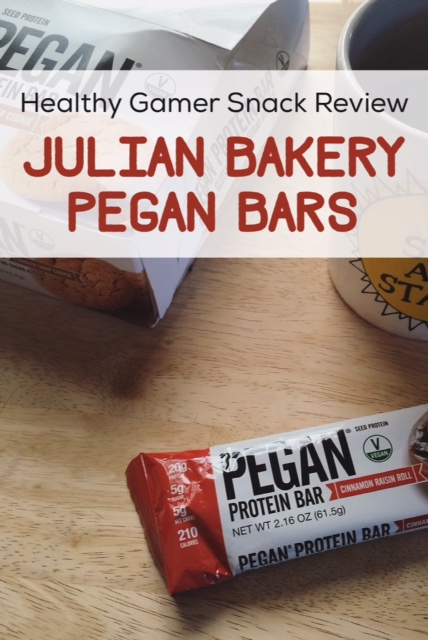 Healthy Gamer Snack Review: Julian Bakery Pegan Bars | How do these low carb, paleo and vegan protein bars stack up?