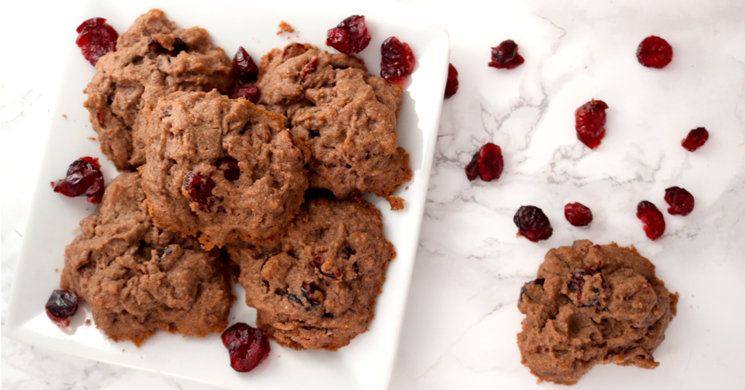 AIP Vegan Banana Cranberry Cookies | For Eat's Sake - These AIP Vegan Banana Cranberry Cookies are a perfect, easy sweet treat for when you just feel like a cookie. They're AIP compliant, so nut free, gluten free, grain free, soy free, dairy free, egg free and vegan (no gelatin)!