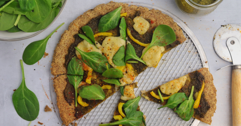 Okara Flatbread Pizza Crust (gluten-free, coconut-free, nut-free, low-carb)