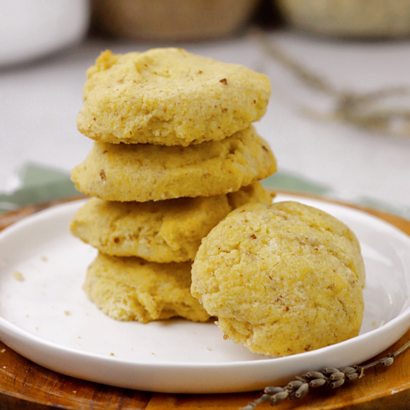 Gluten-Free Vegan Lavender Lemon Sugar Cookies (grain-free, nut-free, low-carb)